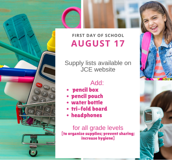 School Supplies Additions and List