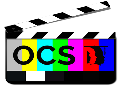 Clapper Board with OCS Logo