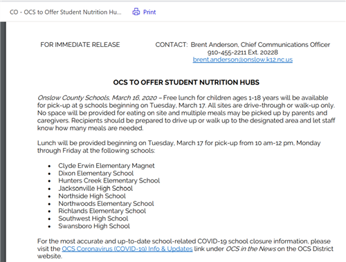 Nutrition Hubs