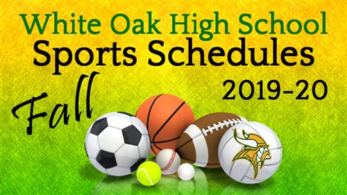 2019-20 Fall Sports & Events Schedules