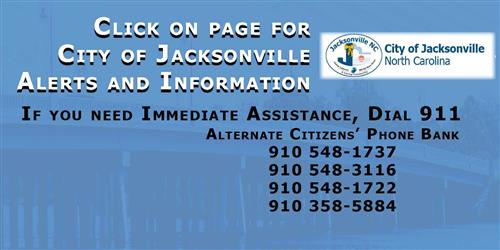 City of Jacksonville, NC phone bank info