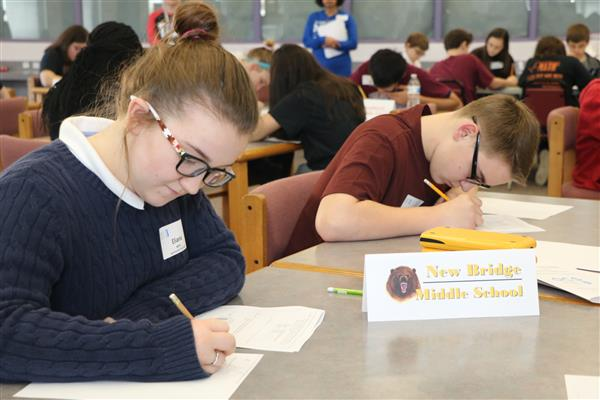 Students from New Bridge Middle compete in MATHCOUNTS