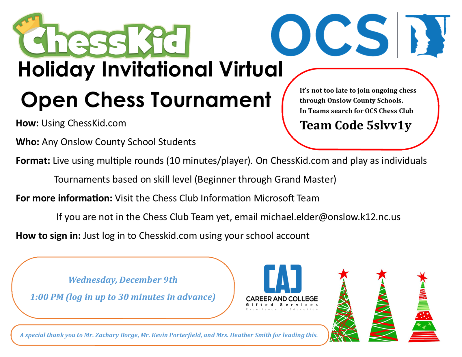Chess Tournament Information