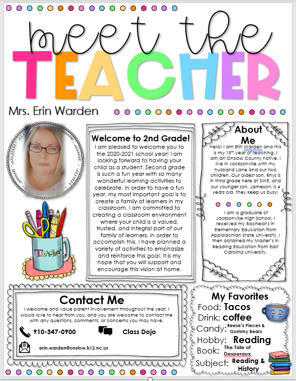 Meet the Teacher file